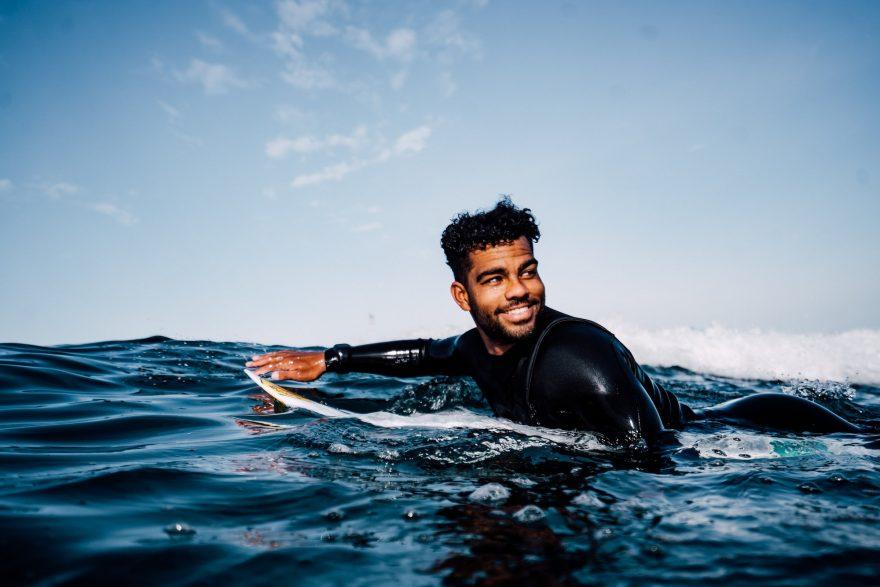 Hunter Jones black surfer