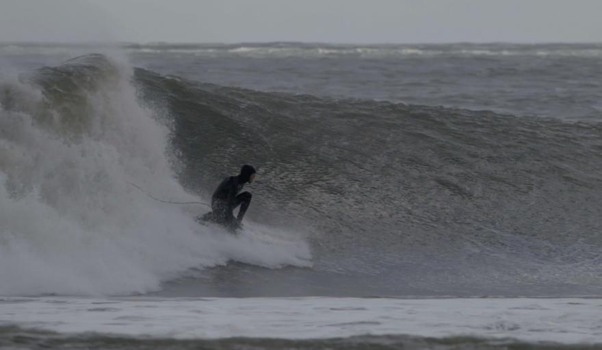 surfing winter LBI