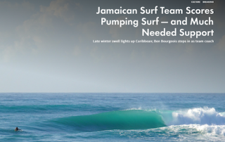 Jamaican surf team Surfline